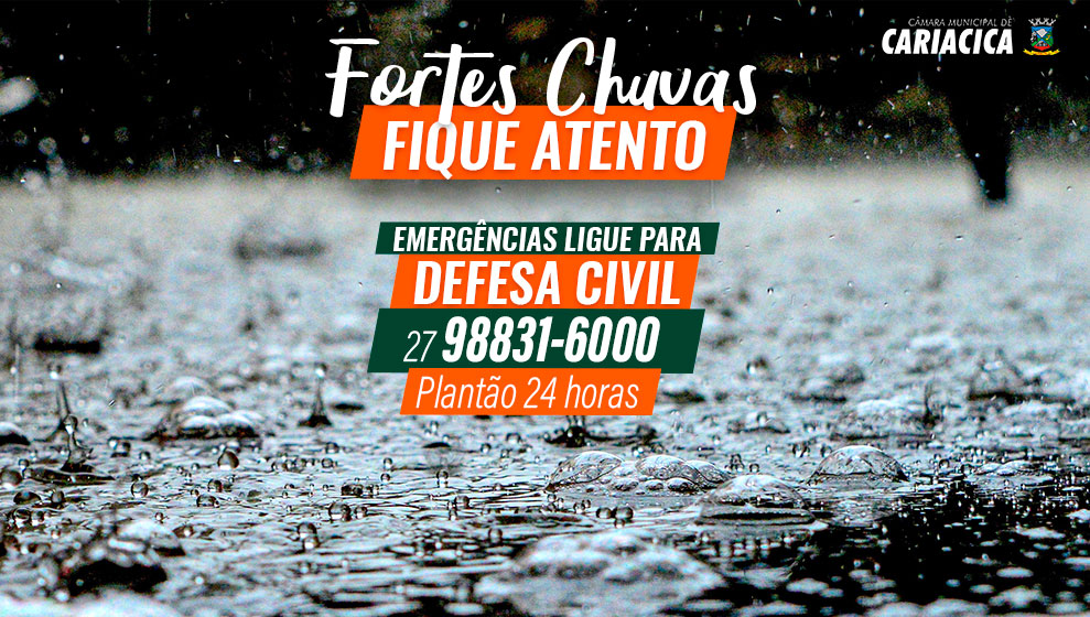 ALERTA DE FORTES CHUVAS